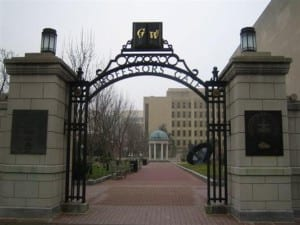 George washington university GRE score