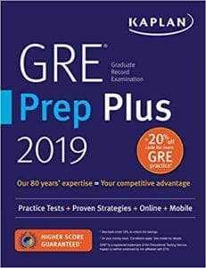 kaplan gre prep plus 2019 review