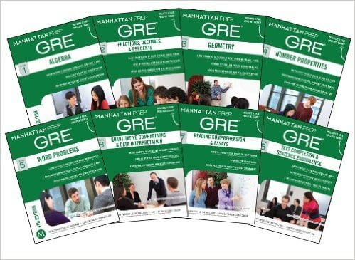 manhattan prep's set of 8 gre strategy guides